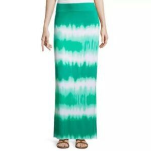 A.N.A Tie Dye Green/White Maxi Skirt